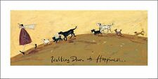 WALKING DOWN TO HAPPINESS  ART PRINT WITH FRAME OPTIONS OR CANVAS