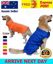 Pet Dog Waterproof Reflective Fleece Jacket Coat Winter Warm Clothes XS-XXXL