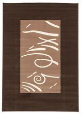 Network Rugs NEW Viva Modern Border Brown / Beige Contemporary Rug
