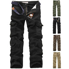 Hot Men's Casual Cargo Pants Military Pants Slim Fit New Combat Work Trousers