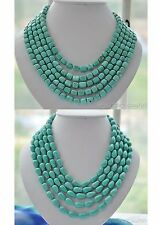 X0365 LONG turquoise bead NECKLACE 100inch