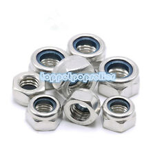 2-10Pcs M2-M20 Nylon Insert Lock Nuts (Nyloc) Hex Lock Nut HOT