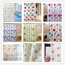 Modern Bathroom PEVA Shower Curtain with Hooks 180 x 180CM