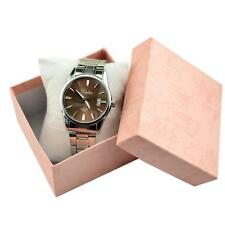 Square Watch Box with Sponge Cushion Storage Jewellery Gift Present Case T4W3