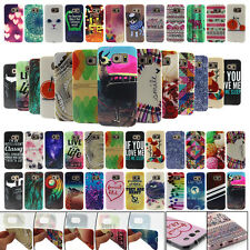 Phone Rubber TPU Soft Back Skin Pattern Protect Cover Case For Samsung Galaxy