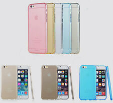 0.3mm Thin Colored Crystal TPU Soft Silicone Back Case Cover For Apple iPhone