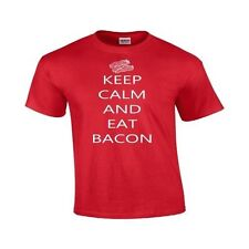 Keep Calm &  Eat Bacon Rude Tee Funny Epic Food Party Gag Gift Gildan T Shirt