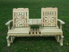 5 Ft Pressure Treated Pine Designs Cutout Glider Settee Multiple Panel Choices