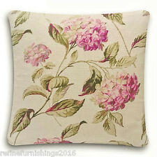 Laura Ashley Hydrangea Cushion Cover~  Pink & Natural Colour Fabric