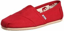 TOMS MENS CLASSICS RED CANVAS NEW SLIP-ON SHOES SIZE 9-12