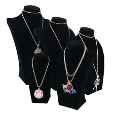 Brand New Velvet Necklace Pendant Chain Jewelry Bust Display Holder Stand QT