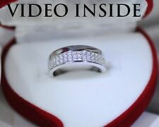 0.8CT Wedding Bands Engagement & Wedding Engagement Rings Sterling Silver ITALY