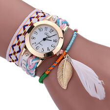 Fashion Women Lady Leather Bracelet Bangle Analog Quartz Wrist Watch Wristwatch