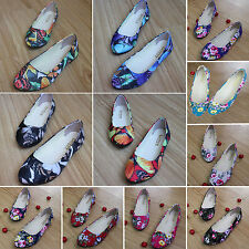 Womens Colorful Ballerina Ballet Flats Dolly Pumps Slip On Loafers Boat Shoes