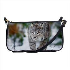 Beautiful Lynx Snow Mini Coin Purse & Shoulder Clutch Handbag