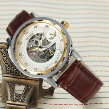 Sewor Gents Fashion Skeleton Casual Mechanical Hand-winding Mens Watch 614-2