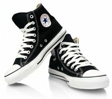 Converse All Star Black and White Youth Boy Girl Hi Top Kids Shoes Size 10.5 - 3