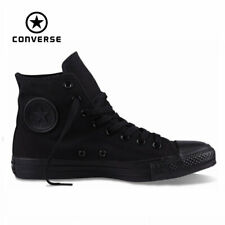 Converse All Star Black Mono Youth Boy Girl Hi Top Kids Shoes Size 10.5 - 3