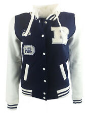 Womens/Girls New Soft Jersey Hoody Press Stud Jacket  With Three Badgers