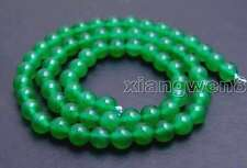 "SALE High quality Round small green 6mm jade gemstone beads strands 15"" -los651"