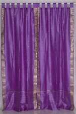 Lavender  Tab Top  Sheer Sari Curtain / Drape / Panel  - Pair