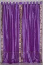Lavender  Tab Top  Sheer Sari Curtain / Drape / Panel  - Piece