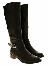 Womens Boots Low Heels Flat Knee High Work Boot Office Winter Boots Size 3 4 5 6