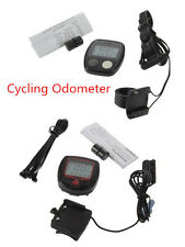 Bicycle Bike Cycling Computer LCD Odometer Speedometer Stopwatch Speed meter #SL