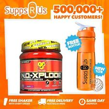 BSN N.O. XPLODE BLUE RAZ 45 SERVES EXPLODE NO PRE WORKOUT PUMP FOCUS RASPBERRY