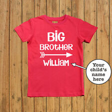 Personalised Big Brother Shirt custom name brother announcement gift boys tee