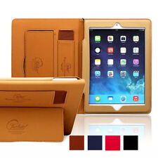 Smart Cover Stand Real Leather Case For Apple ipad 2 3 4 Air / ipad Mini 4 Case