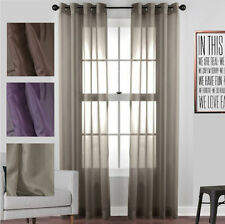 QUICKFIT SHEER EYELET CURTAIN LINEN LOOK VOILE