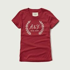 Abercrombie & Fitch T-Shirt Embellished Logo Tee Shirt Top S or M Red NWT