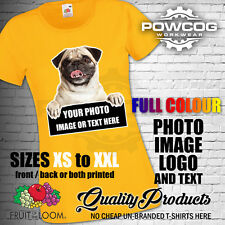 PERSONALISED CUSTOM PRINTED Lady Fit T-Shirt PHOTO IMAGE LOGO TEXT Tee T Shirt