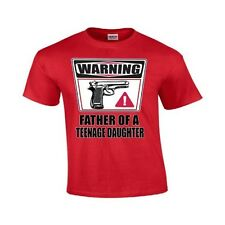 Warning Father Of A Teenage Daughter Funny Father Day Dad Pa PaPa Gildan T-Shirt
