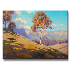 NEW Megalong Valley Oil Painting Original Australian Landscape Gum Trees on
