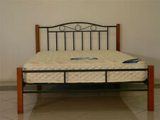 NEW Sweetdream Metal Bed with Timber Post