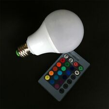 AC85V-265V LED RGB 5W Ball Changing Lamp Light Bulb With Remote Controller QS