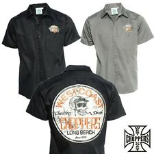West Coast Choppers Shirt Cheating Death Workshirt Biker Custom Jesse James