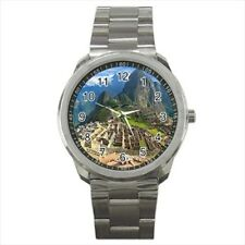 Machu Picchu Inca Peru Stainless Steel Watches