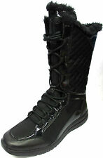 LADIES ROCKPORT ZANA QUILTED BLACK LACE UP LIGHTWEIGHT WINTER SNOW BOOTS K60673
