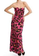 Liquorish Pink Leopard Print Strapless Maxi Dress-With Tags Boutique Outlet £13