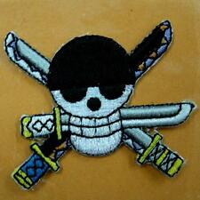 Patch Iron on Applique Pirate Skull Crossbones Embroidere Badge Motif Knife Cute