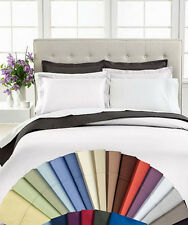 Luxury 1800 Thread Count Solid 3-Pc Duvet Cover Sets 100% Egyptian Cotton