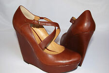 Nine West Brown Mary Jane Platform Wedge, Size 9.5