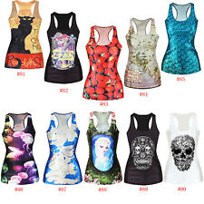 Gothic Tank The Hobbit Middle Earth Map Womens Tees Blouses Tops Vest