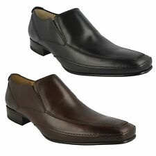 MATTHEW MENS LOAKE SLIP ON STYLISH BLACK BROWN LEATHER FORMAL SHOES