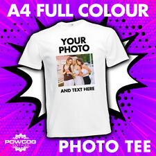 Custom Printed PHOTO T-Shirts PERSONALISED STAG HEN PROMOTIONAL T-Shirt