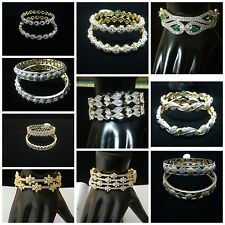 Indian Bangles Bollywood Jewelry Wedding Gold Plated Bangles Ethnic Bracelet AD