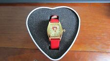 Avon Betty Boop 2002 Hearst Collector Red Band Gold Watch Stain Steel Back w/Tin